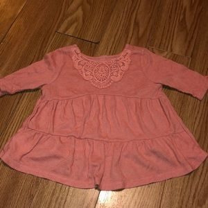 Old navy pink Flowy top toddler girls 2T